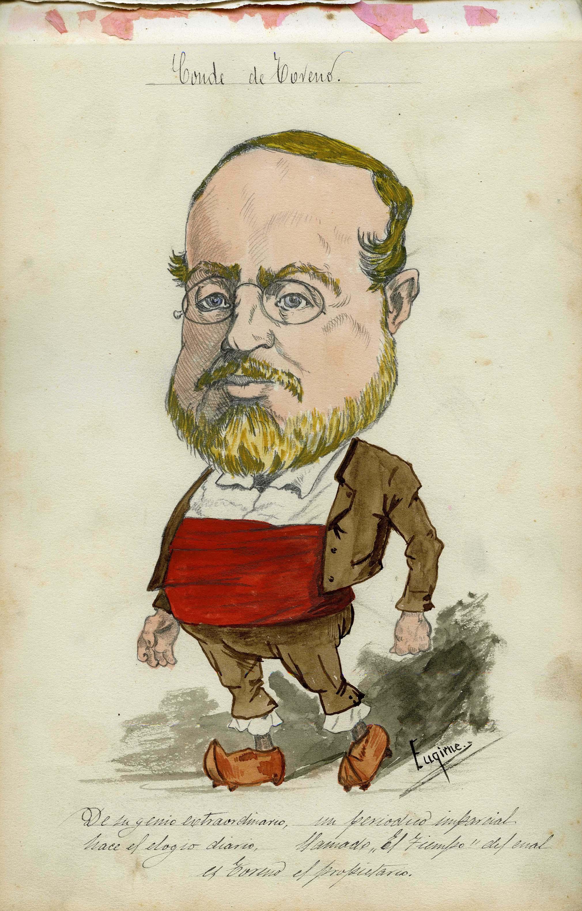 Eugirne. Caricatura conde de Toreno