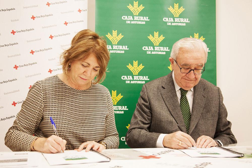 Renovación convenio Cruz Roja y Caja Rural de Asturias